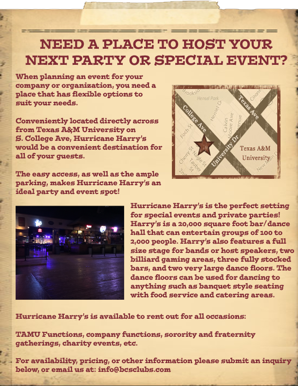 Party Rental Flyer